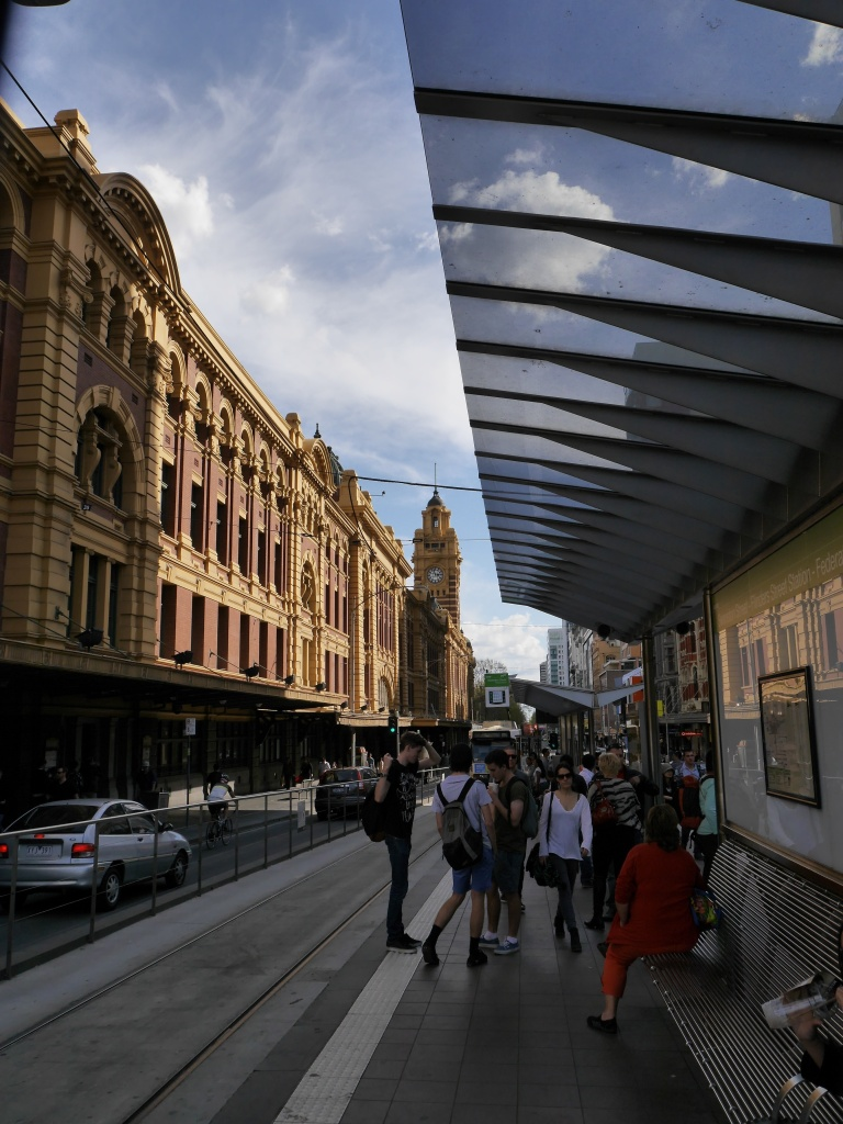 Outside Flinders St. Station
